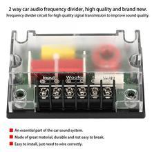 Автомобильный компонентный динамик s 2 Way автомобильный аудио Частотный динамик с делителем частоты звуковой фильтр автомобильные аксессуары