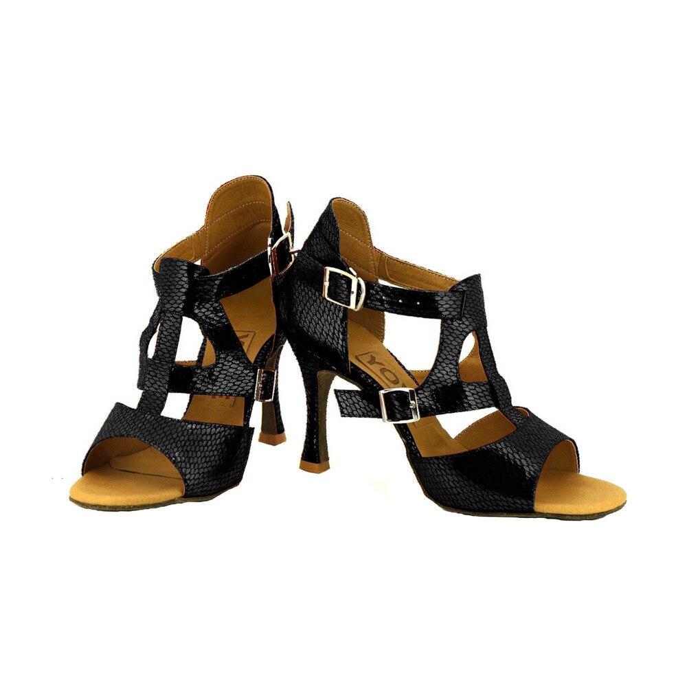 YOVE Dance font b Shoe b font Leather Women s Latin font b Salsa b font
