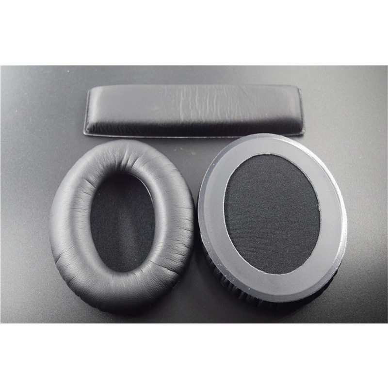 LEORY Replacement 1 Pair  Earpads + Headband Cushion for Sennheiser HD418 HD419 HD428 HD429 HD439 HD438 HD448 HD449 Headphones