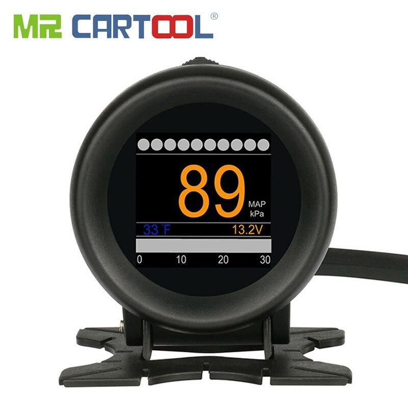 SENHOR CARTOOL M3 OBD2 OBD Carro HUD Head-Up Display GPS Velocímetro Medidor De Temperatura Da Água do Óleo 12V OBDII leitor de código de