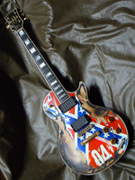 Wholesale New Cnbald G Custom LP Guitar Electric Guitar Southern Flag Body Top Quality 110310
