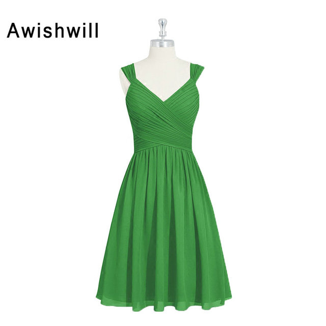 Real Photo Customize Plus Size Cheap Bridesmaid Dresses Knee Length