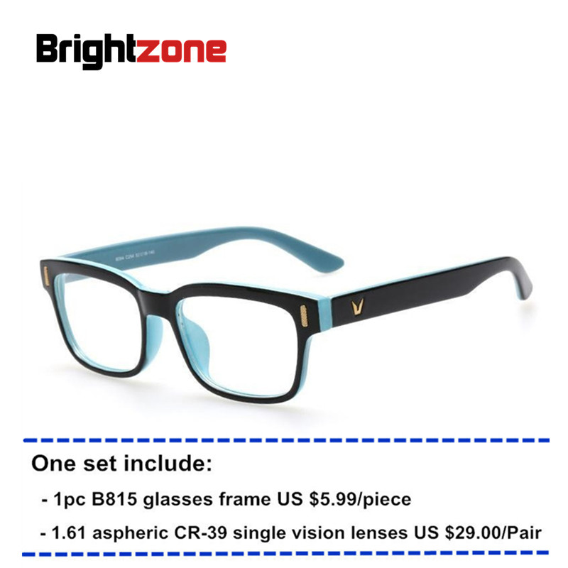 33f7fa49fb0 New V-shape Retro   Vintage Unisex Prescription Eyeglasses Glasses Optical  Frame + 1.61 HMC aspheric CR-39 single vision lenses