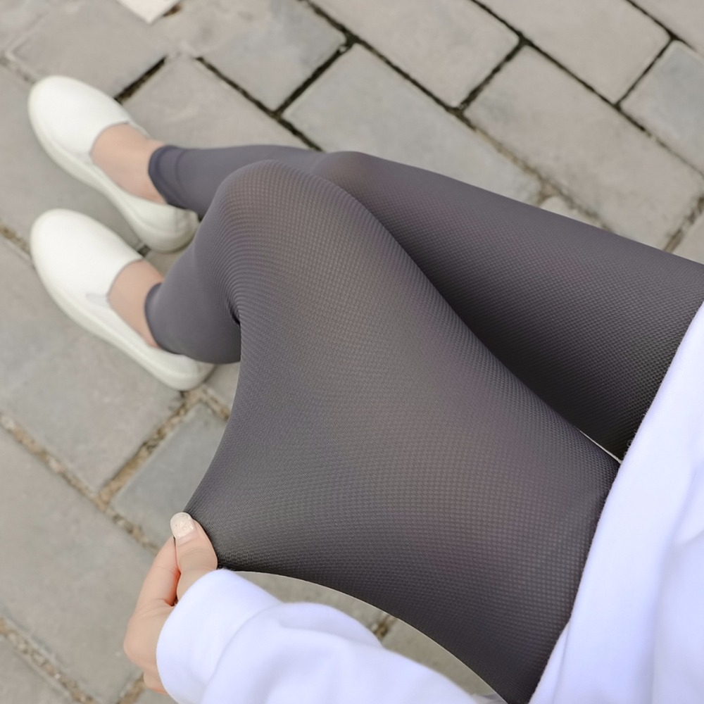 2019 Summer Women Ice Silk Plaid Leggings Korean Slimming Elasticity Pants Legging Casual Solid Women's Plus Size Leggings