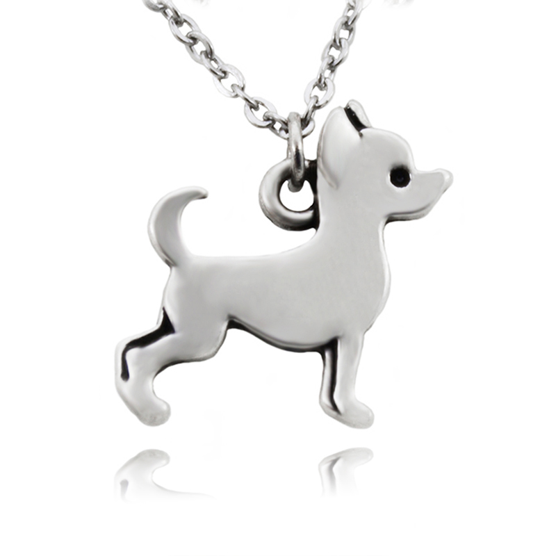 Fei Ye Paws Stainless Steel Rantai Pernyataan Chihuahua Dog Charms - Perhiasan fashion - Foto 2