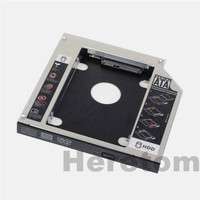 12.7mm Universele Aluminium SATA naar SATA Caddy Voor 2nd HDD SSD Harde Schijf Box Behuizing DVD CD ROM Optibay adapter Case