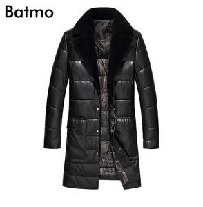 Batmo 2020 new arrival zima wysokiej jakości 95% biała kaczka puchowa, długa kurtka mężczyźni, ciepły trencz płaszcz mężczyźni 1712