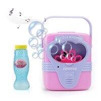 Игрушки Bubble на открытом воздухе портативная детская игрушка воздушный шар устройство для выдувания мыльных пузырей игрушка музыка Автомат...
