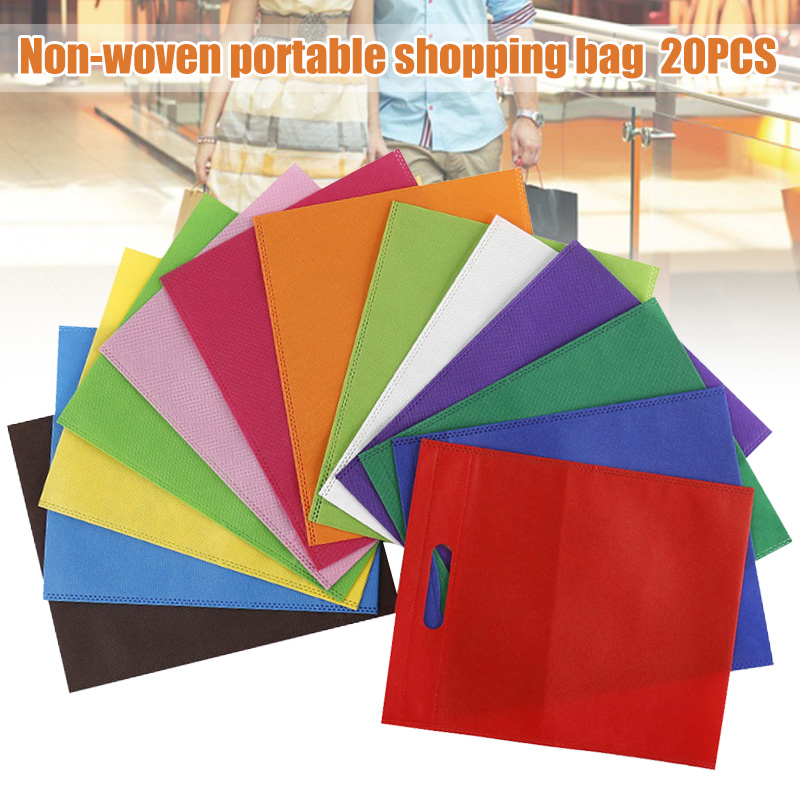 20 Pcs Non Woven Gift Bags Portable for Candy Birthday Wedding Party Celebrations TT best in Storage Bags from Home Garden