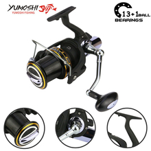 Yumoshi 1000-7000 12+1 ball bearing 5.5:1 trolls Carp Reel Feeder Metal Spinning Fishing Reels Fishing Reel Trolling Reel