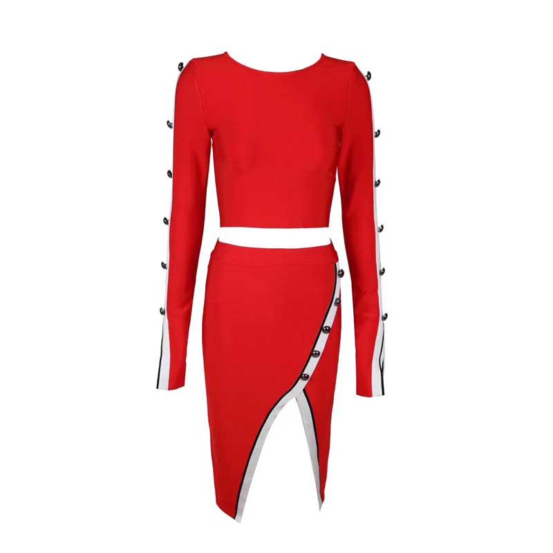 Partito Natale Night Abiti Di Vestito Dalla Manica Sexy Donne Elegante Rosso Club Lunga Fasciatura Modo Delle Del Aderente 6B7pY