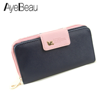 Fashion Clutch Mini Euro Pencil Phone Zipper PU Leather Change For Lady Girl Women Coin Purse Case Wallet Female Bag Pouch Brand