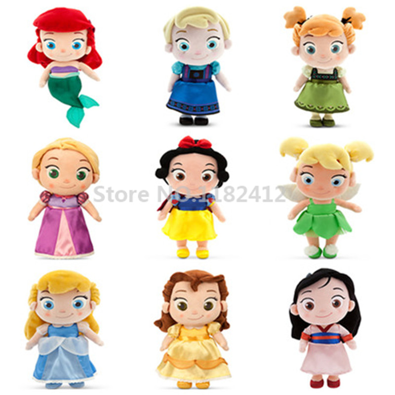 Cute Toddler Princess Plush Dolls Tinkerbell Rapunzel