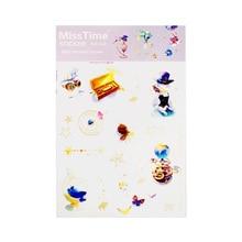 4pcs/lot Magic school Decorative Washi Stickers Diary Album Label Scrapbooking Sticker Stationery