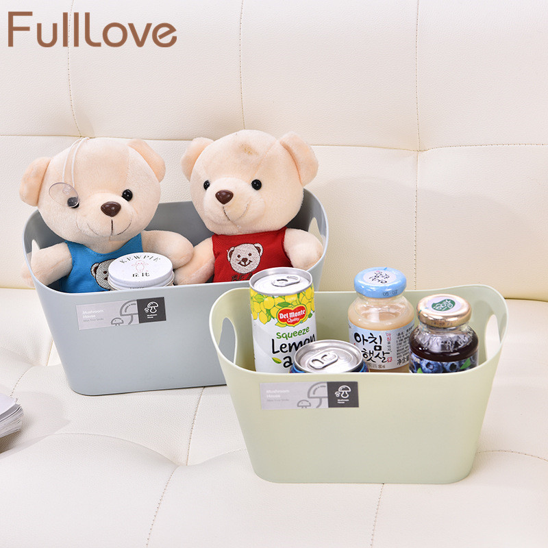 FullLove 23*14*12.8cm Plastic Cosmetic Organizer Toys Container Underwear Bra Storage Box Desk Bathroom Storage & Organization