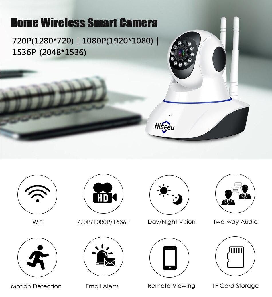 Hiseeu 1536P IP Camera