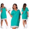 2017 Мода Осень плюс размер платья для женщин 4xl 5xl 6xl футболки dress Письмо Печати футболка С Длинным Рукавом dress