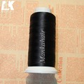 2 Rolls Black Nylon Weaving Thread For Hair Extensions 1500 Meters Weave Thread