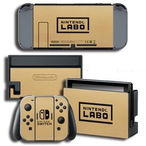 Image 3 - Защитная виниловая наклейка для консоли Nintendo Switch NS, защитная пленка для контроллера и держателя стойки серого цвета