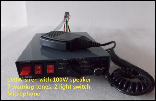 Выше Star 100 Вт сирены усилители с microhone+ 100 Вт обвинять Полиция/скорая помощь/пожарная машина