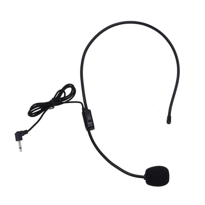 portable lightweight wired 3 5mm plug guide lecture speech headset with mic