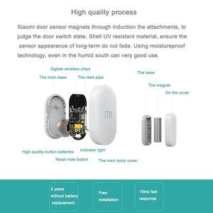 Image 5 - مجمعة البيع الأصلي شاومي Mijia ذكي صغير نافذة الباب الاستشعار حجم الجيب المنزل الذكي التلقائي أضواء ل MIhome App