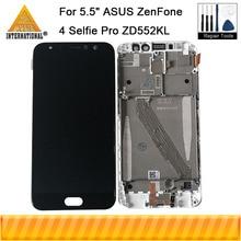 "5.5 ""ASUS ZenFone 4 Selfie Pro ZD552KL LCD 디스플레이 스크린 + Asus_Z01MD 용 터치 패널 디지타이저 프레임 용 기존 axisterinnat"