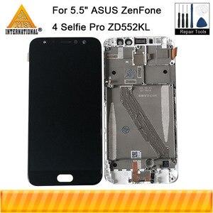 "Image 1 - 5.5""Original Axisinternat For ASUS ZenFone 4 Selfie Pro ZD552KL LCD Display Screen+Touch Panel Digitizer Frame  For Asus_Z01MD"