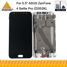 """5.5 """"orijinal Axisinternat ASUS ZenFone 4 Selfie Pro ZD552KL LCD ekran + dokunmatik Panel sayısallaştırıcı çerçeve için asus_Z01MD"""