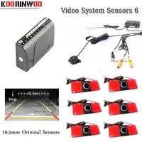 Dual Core CPU parkplatz Sensor 6 Video RCA 12 V Reverse Radargeräte Parktronic für Auto Auto System Auto detector parkplatz unterstützung-in Parksensoren aus Kraftfahrzeuge und Motorräder bei