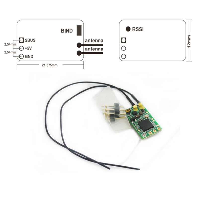 Tarot-RC Frsky XM + Micro D16 SBUS Volle Reichweite Empfänger Bis zu 16CH Für RC Multicopte
