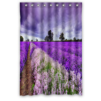 Custom Stylish Popular Waterproof Bath Curtain Pink And Purple Lavender Shower Curtains 48 X 72 Inch