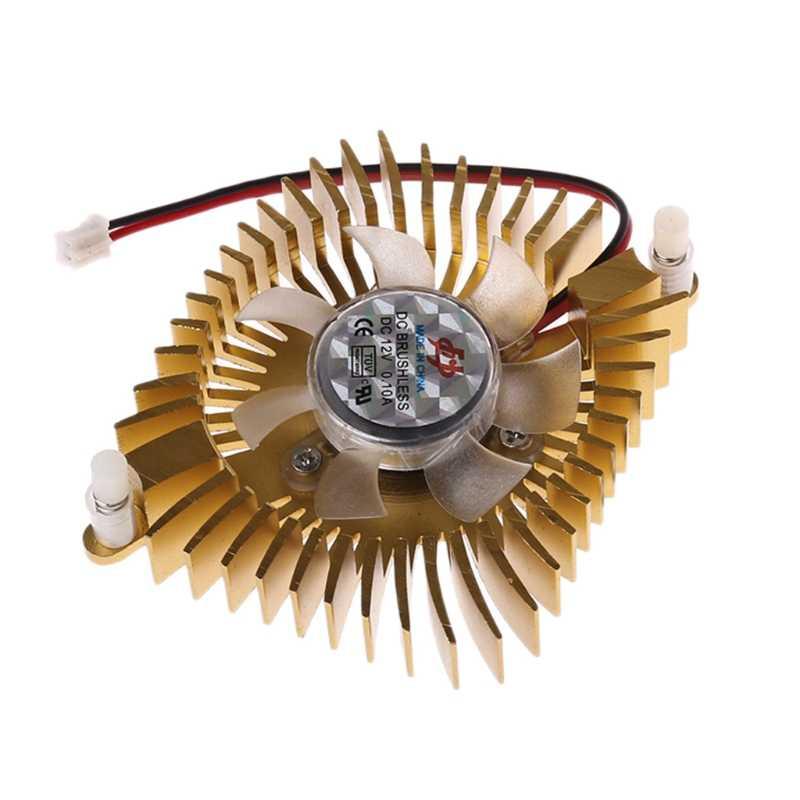 DC 12 В 80 мм видео графика VGA радиатор охлаждения карт вентилятор 2 шпильки монтажное отверстие только серый цвет