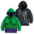 Hot Avengers Crianças Hoodies do homem-Aranha homem de Ferro Hulk Capitão América meninos Meninas hoodies Manga Comprida Outwear camisola dos miúdos