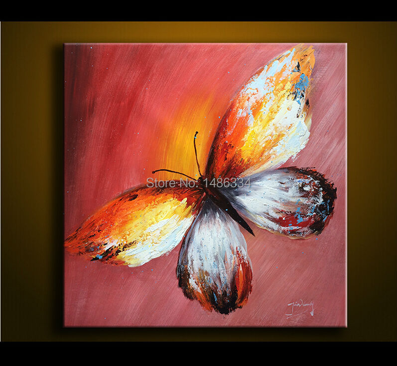 100 hand painted oil painting on canvas palette knife for Beautiful canvas painting