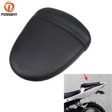 купить Black PU Leather Motorcycle Retro Solo SeatsPads Cover Rear Passenger Seat Cushion Pillion for Suzuki GSXR 1000 K7 2007 2008 по цене 2043.3 рублей