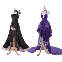 Fate/Grand Order Cosplay Costume FGO Mary and Scathach 2nd Anniversary Wear formal dress Cosplay Costume with fan and gloves