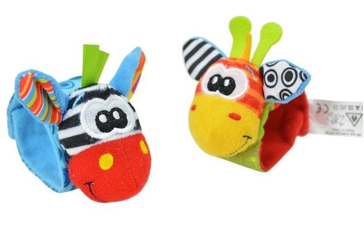 1 Pair Infant Newborn Baby Soft Rattles Wrist Handbell Foot Finders Socks Developmental Toy For 0-3Y Children