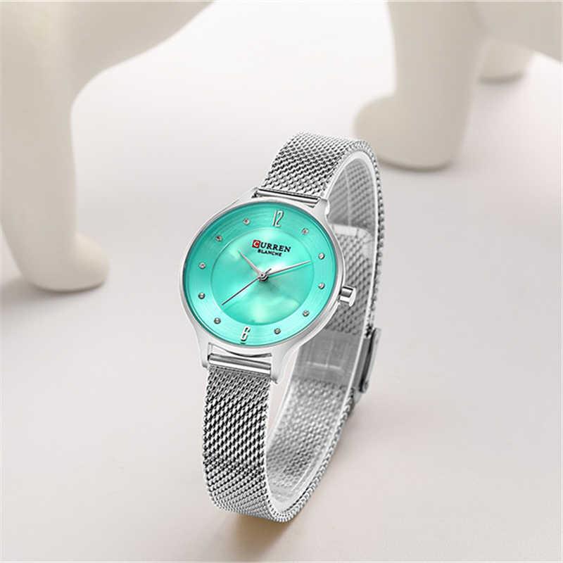 Reloj de pulsera de cuarzo analógico hermoso de esfera con diamantes de imitación para mujer