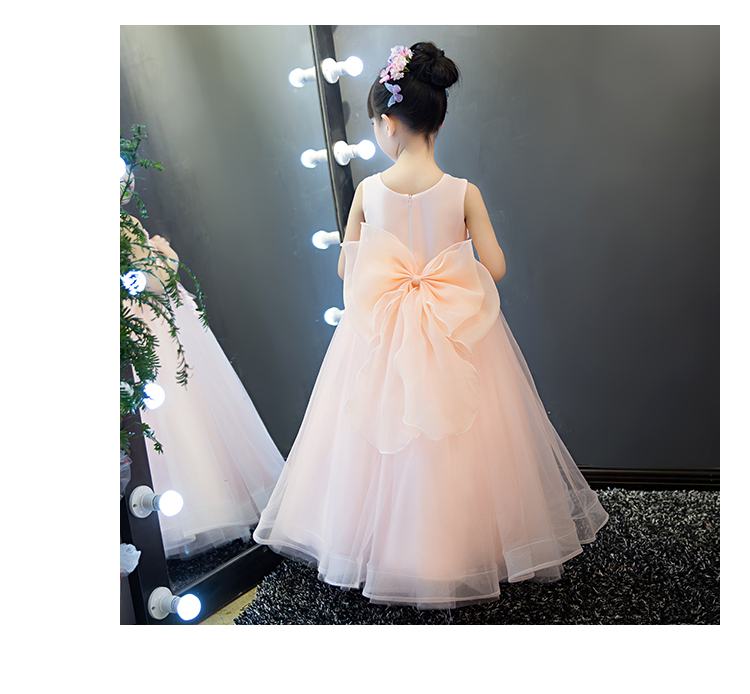 2018 spring fancy girls floral formal dresses for teenage girl princess prom dress children frocks christmas evening party gown
