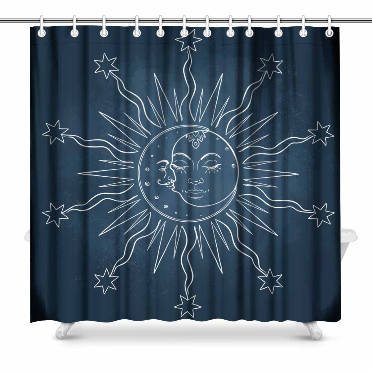 Aplysia Sun and Moon Vector in Vintage Engraving Style Bathroom ...