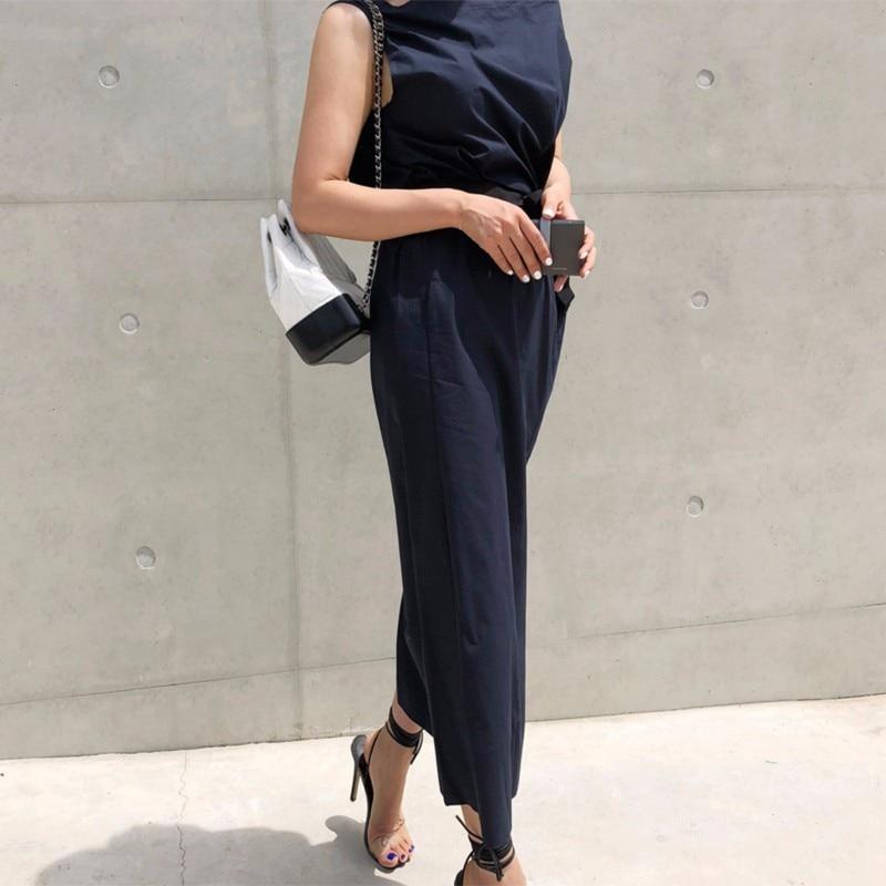 CHICEVER Summer Dresses For Women Sexy Slash Neck Hem Split Big Pocket Waist Lace Up Slim Dress Female Korean Fashion Tide New 4