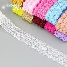 5 ярдов/рулон) 25 мм белая кружевная ткань тонкая лента для украшения любовь подарок упаковочный материал