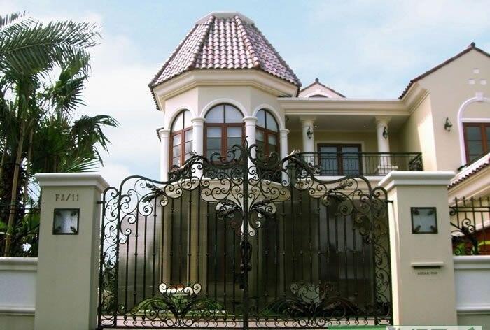 Wrought Iron Porch Gate Iron Gate Design White Metal Gate