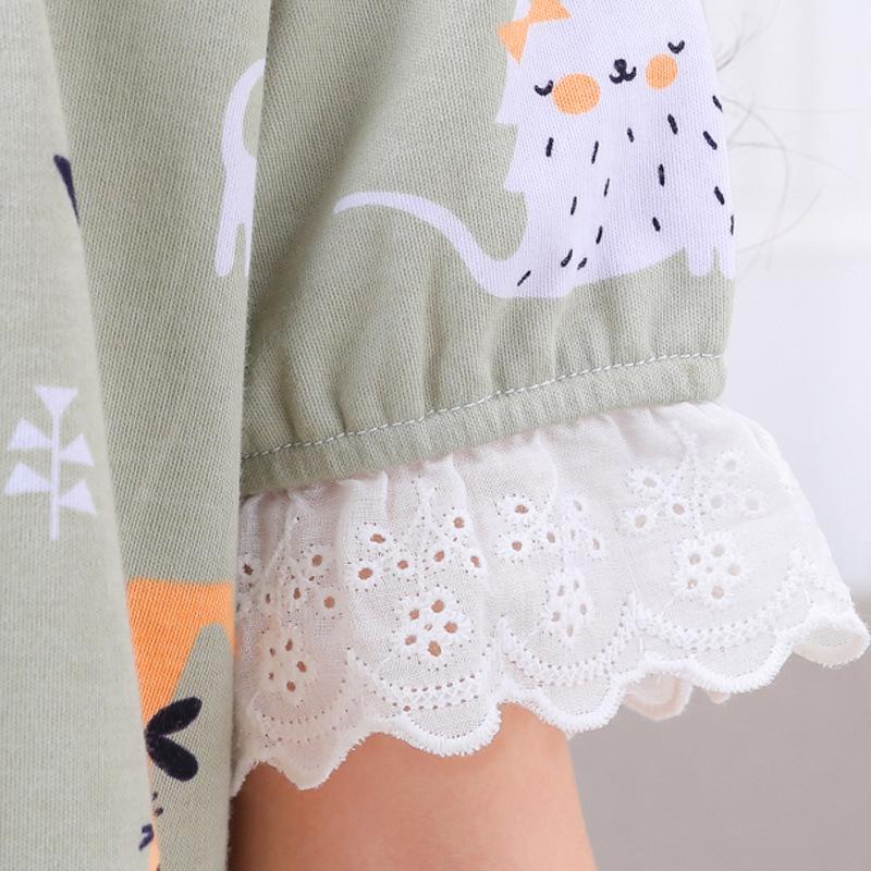 4812378fc8ea9a Kinder nachthemd Mädchen pyjamas 100% baumwollspitze kurzarm dünne stil  mädchen Sommer Nachthemden Cute startseite bekleidung homewear