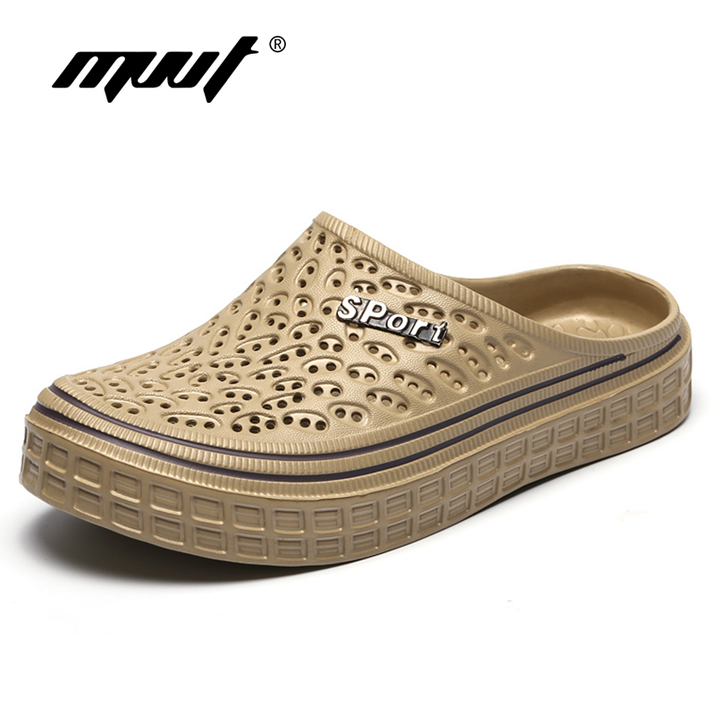 MVVT New Summer Shoes Hollow Men Sandals Comfortable Slip On Garden Outdoor Beach Sandals Men Jelly Shoes Unisex Casual Shoes