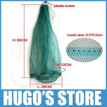 2 Pieces/lot Light Weight Compact Size Monofilament Small Mesh Carp Crab Crawfish  Mullet Panfish Keep Net Trap Basket Container