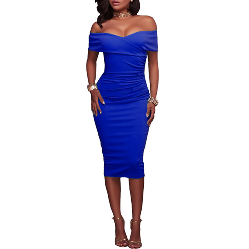 2017 Female elegant embroidery have ruffles thin leisure party night special occasion sheath pencil Bodycon led a word