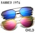 2017 new arrival uv400 polarizada óculos de sol das crianças da menina do menino de alta qualidade cat eye oculos de sol da moda crianças óculos de sol
