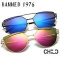 2017 new llegada uv400 polarizado gafas de sol de los niños de alta calidad de la muchacha del muchacho gafas de sol de moda cat eye niños gafas de sol